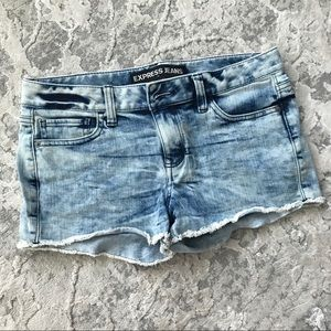 Express Acid Wash Jean Shorts